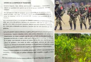 Protesta cocalera genera preocupación en sector ganadero de Putumayo