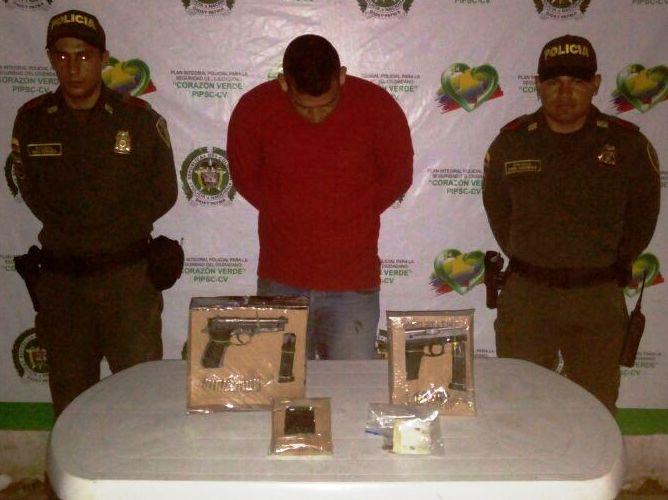 Capturada persona por porte ilegal de arma de fuego en Villagarzón