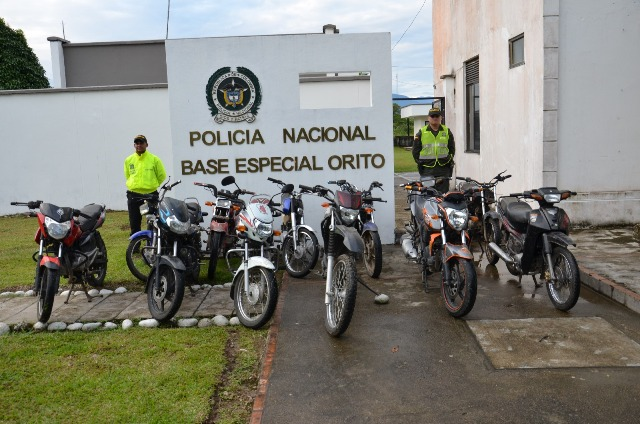 Incautación masiva de motos y vehículos hurtados y con identificación adulterada