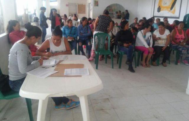 Jornada de exámenes médicos para manipuladoras de alimentos, avanza sin ningún contratiempo