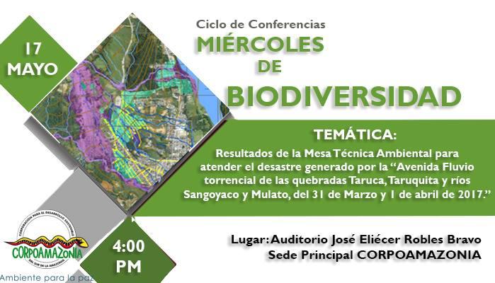 """CORPOAMAZONIA invita al ciclo de conferencias """"Miércoles de la Biodiversidad"""""""