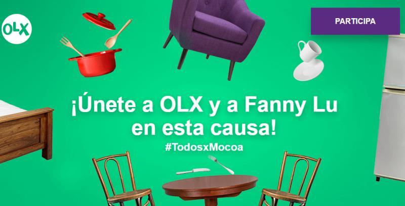 #TodosxMocoa – ¡Únete a OLX y a Fanny Lu en esta causa!