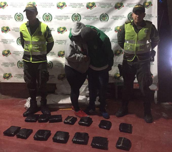 Capturadas dos personas en flagrancia con 42 mil dosis de marihuana