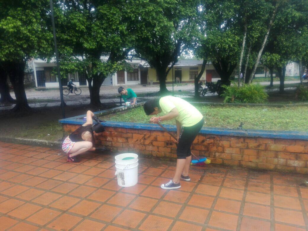 Aprendices SENA Adoptan un Parque en Puerto Asís