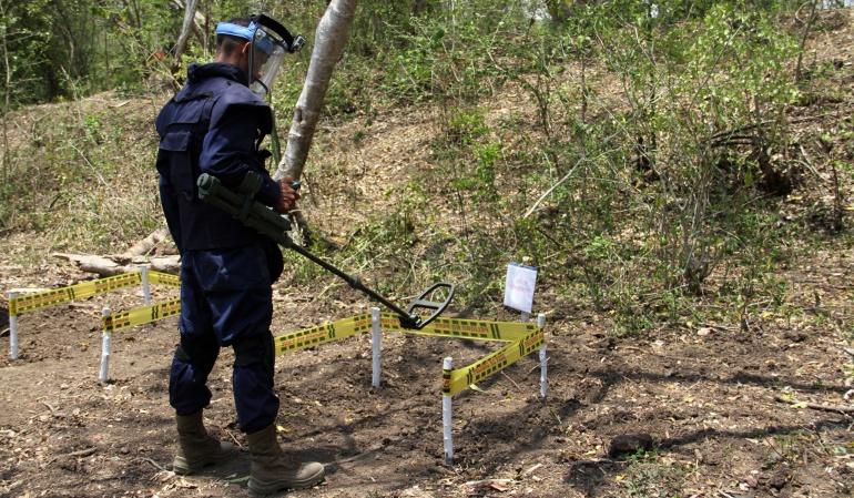 Ubican campo minado cerca a un colegio en Orito Putumayo