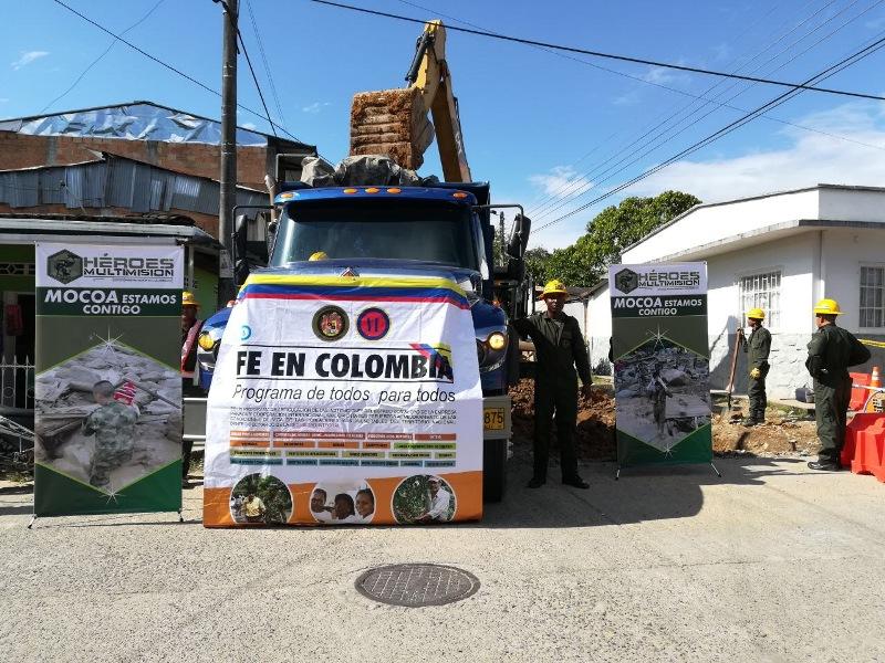 «Las vías fueron priorizadas por la Alcaldía de Mocoa y la Unidad Nacional de Gestión del Riesgo y Desastre», Comando de Ingenieros Militares