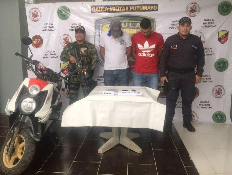 Gaula Militar de Putumayo captura a dos presuntos integrantes de La Costru