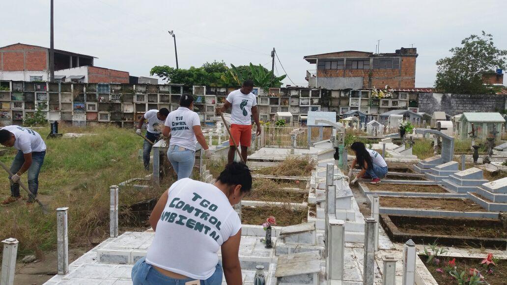 El Cementerio de Puerto Asís mejora su aspecto con participación de Aprendices SENA