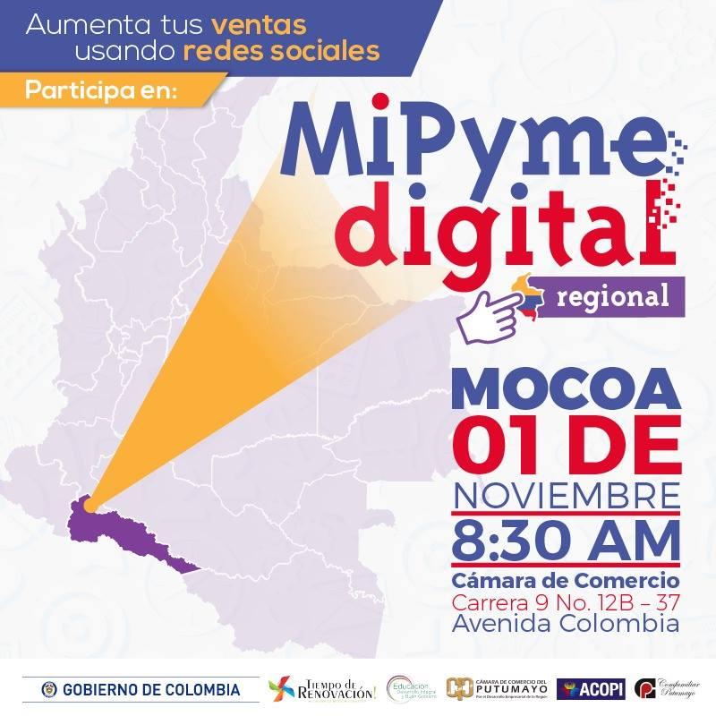 MinTIC realiza el segundo taller en Mocoa para que los empresarios usen y se apropien la tecnología para transformar sus negocios