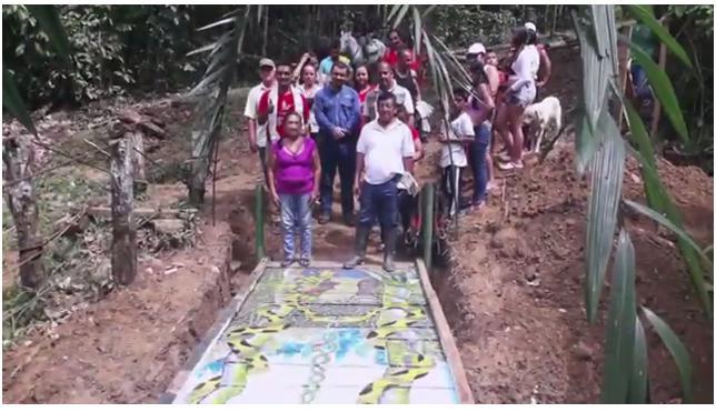 Puentes por la Paz entrega obra en la vereda Silvania – Orito