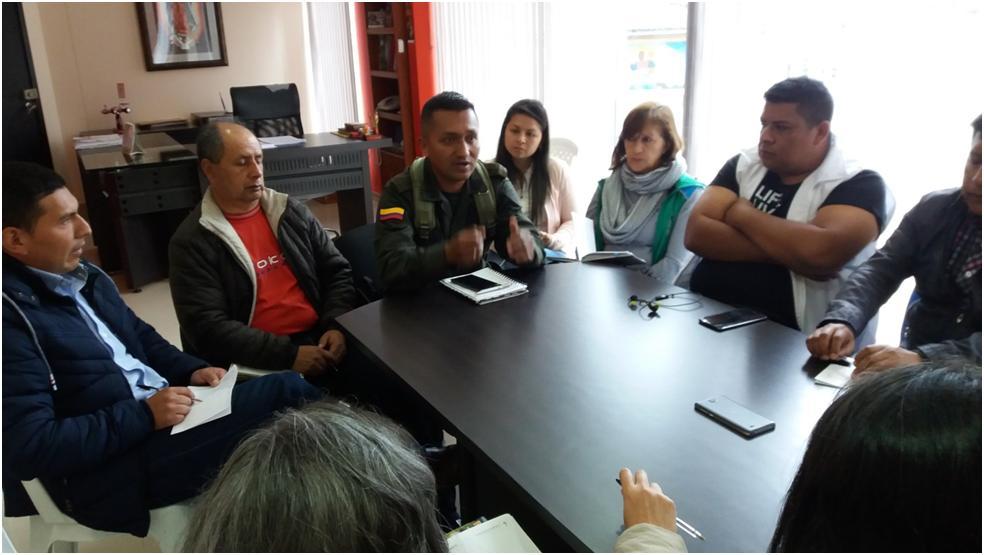 Importante reunión de seguridad en Colón
