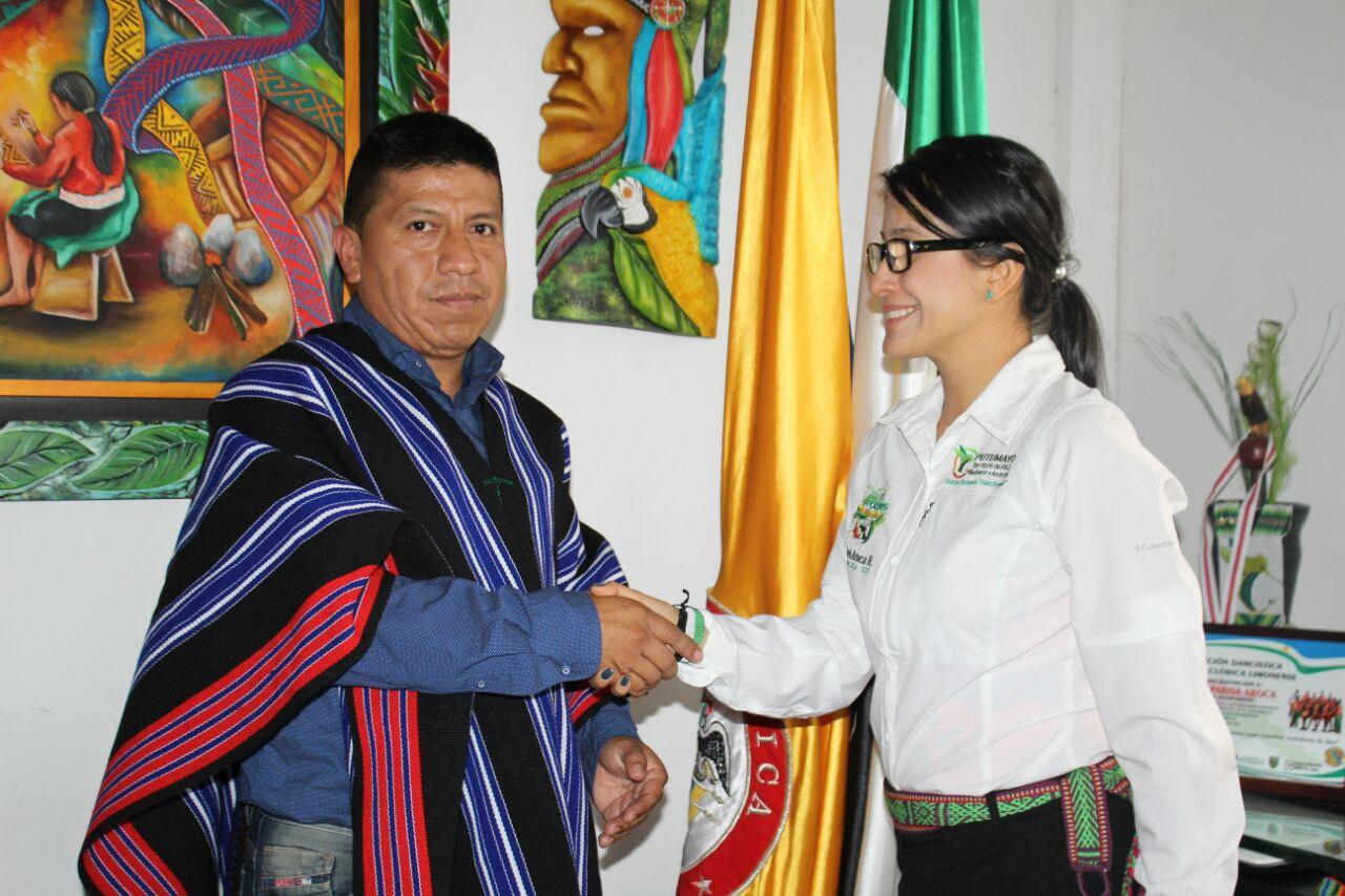 Gobernadora posesionó nuevo gerente de la Empresa de Energía del Valle de Sibundoy-EMEVASI
