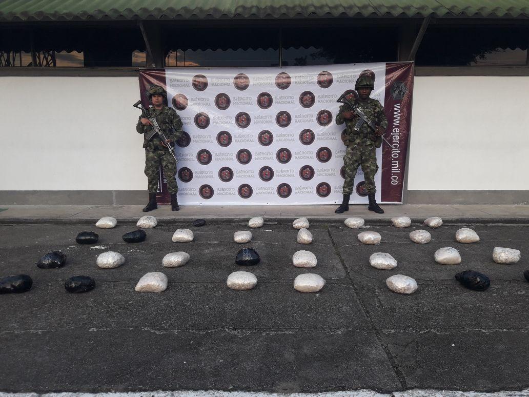 Incautados 63 kg de base de coca y destruido un laboratorio en el bajo Putumayo