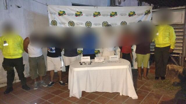 Capturadas en flagrancia 7 personas por delito de narcotráfico, fabricación y porte de estupefacientes