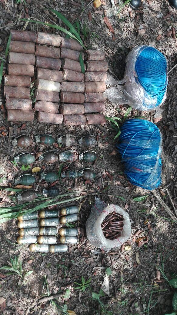 Hallada caleta con explosivos y munición en zona rural de Orito