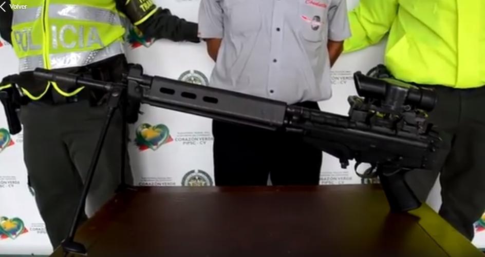 Incautado fusil de asalto de largo alcance en Mocoa
