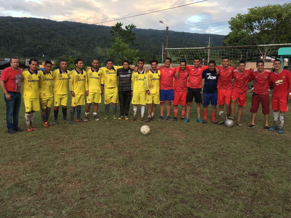 Final de Cuadrangular de Integración Deportiva en Caliyaco