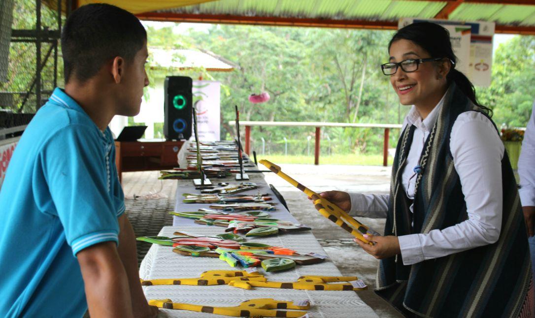 Clausura de talleres realizados por jóvenes del Centro Amigoniano de Mocoa