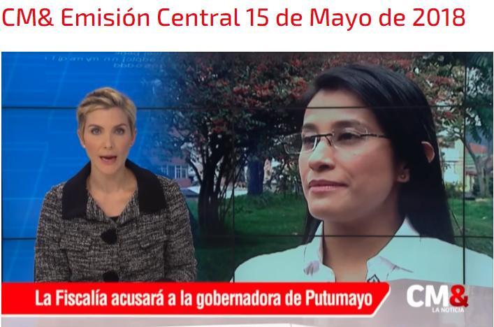 La Fiscalía llamó a juicio a la gobernadora del Putumayo Sorrel Aroca.