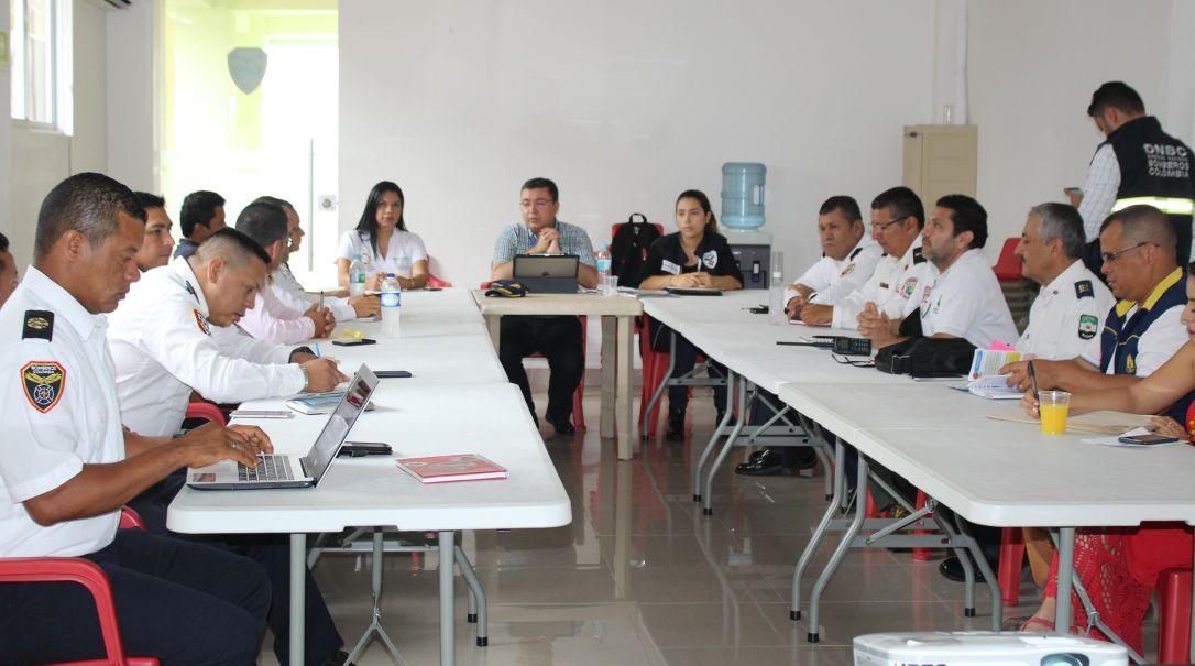 Reunión contratación servicio público esencial de Bomberos en Putumayo