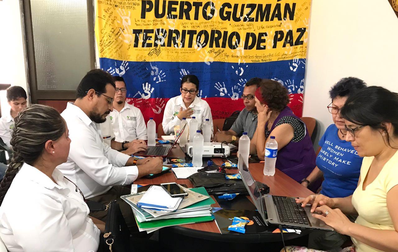 Comité operativo proyecto Empoderamiento de mujeres en Putumayo