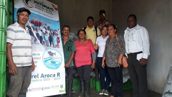 Beneficiarios de Alianza Productiva de Puerto Asís recibieron alimento para Cachama Blanca