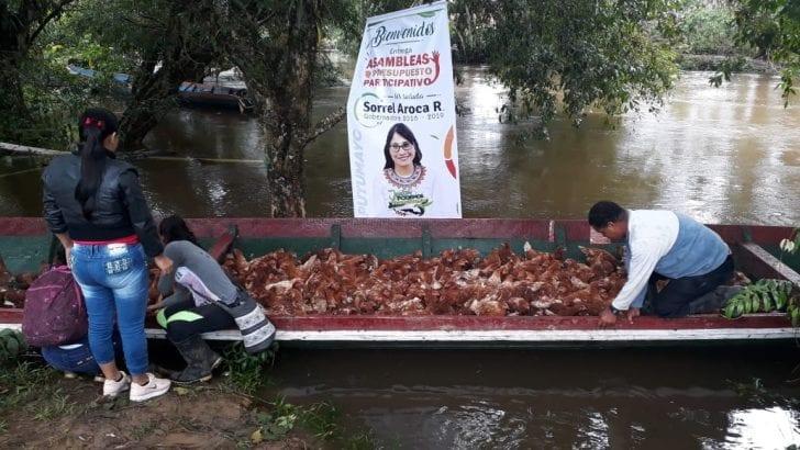 Con insumos Gobernadora continúa entregas de Asambleas de Presupuesto Participativo en Puerto Guzmán