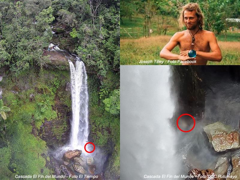 Joseph Tilley, fue hallado muerto en la base de la cascada del Fin del Mundo (Mocoa)