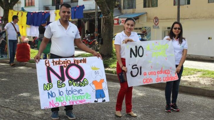 Movilización Día Mundial Contra el Trabajo Infantil