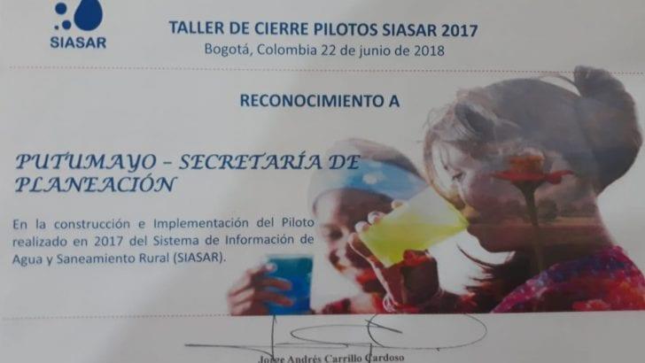 Putumayo recibe reconocimiento por implementación de Sistema de Información de Agua y Saneamiento Rural- SIASAR