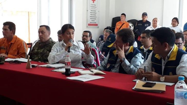 Director Nacional de Gestión del Riesgo presente en Puesto de Mando Unificado en Mocoa