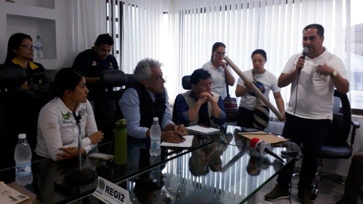 Alcaldes afectados por ola invernal intervienen en Puesto de Mando Unificado