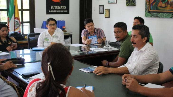 Gobernadora se reúne con presidentes de Asojuntas Putumayo