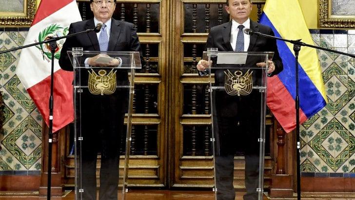 Lo que acordaron los cancilleres de Colombia y Perú tras su reunión en Lima