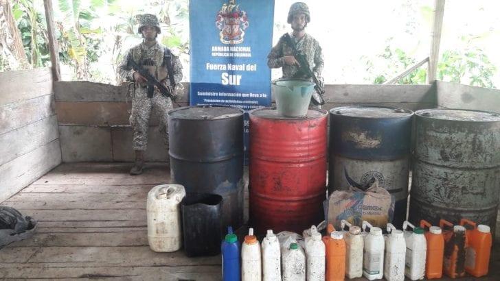 Continúa la destrucción de laboratorios para el procesamiento de cocaína en el sur del país