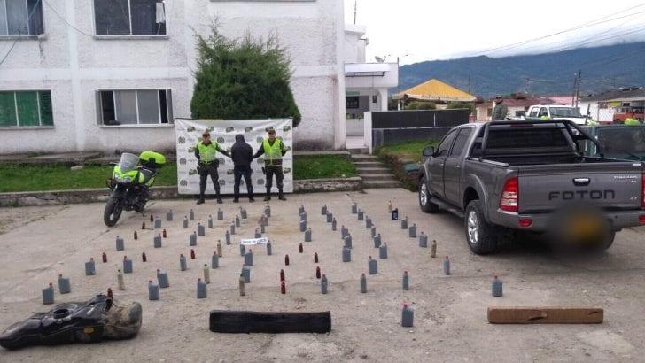 120 kilos de Base de Coca incautados en vías del putumayo.