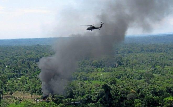 Guerra a bomba y fuego contra la coca