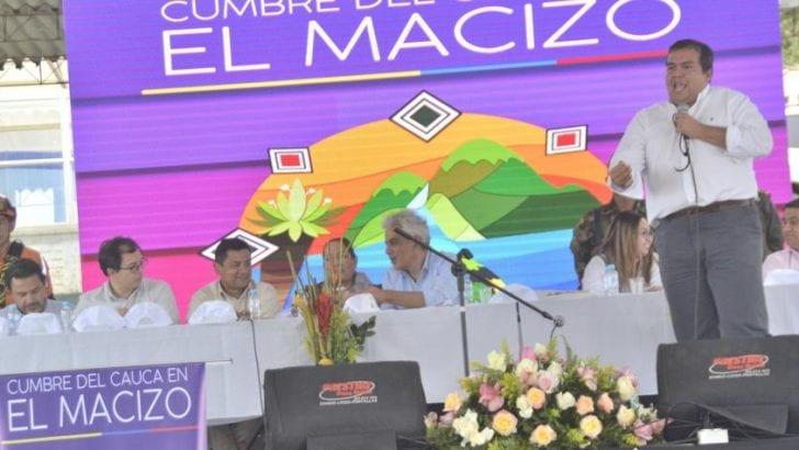 Clamor por agua y contra explotación minera en el Macizo en Cauca