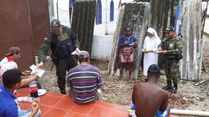 """Gaula Policía y Gaula Militar, en Putumayo realizan campaña masiva de prevención en la inspección Puerto Limón.  """"Yo No Pago, Yo Denuncio"""""""