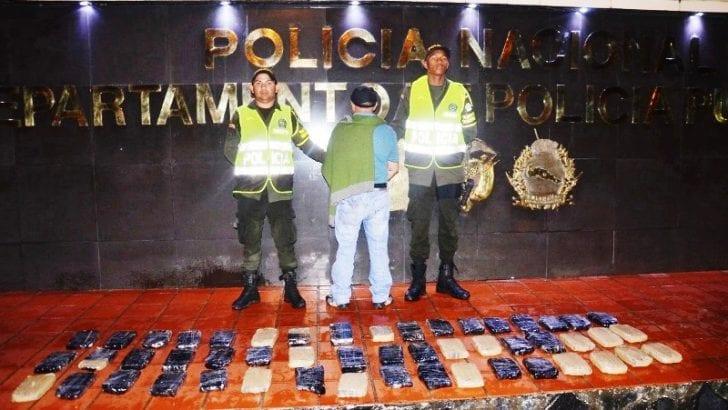 Capturado en Mocoa con 60 kg de clorhidrato de cocaina