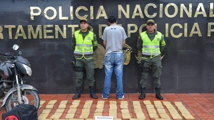 31 Kilos De Marihuana incautados y una Persona Capturada en Puesto de Control.