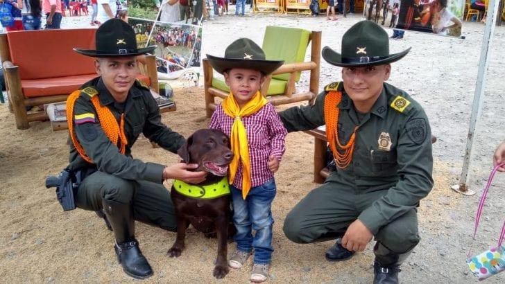 Grupo de Carabineros de la Policía Nacional en ExpoMocoa 2018