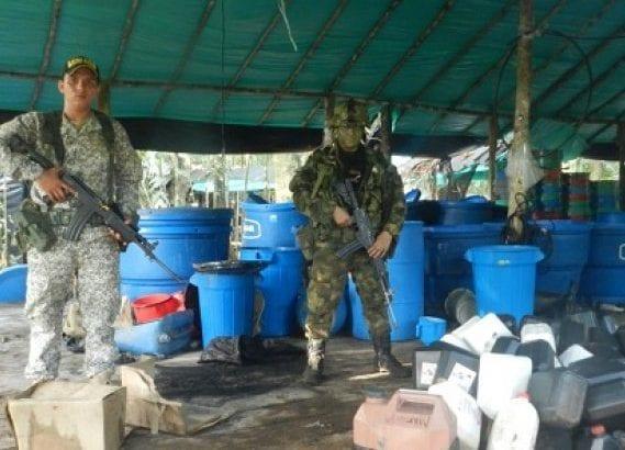 Desmantelado laboratorio para el procesamiento de clorhidrato de cocaína en Putumayo