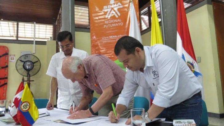 Firma de  carta de entendimiento entre Agriteam Canadá Ltd y SENA Putumayo, para iniciar participación de proyectos comunitarios.