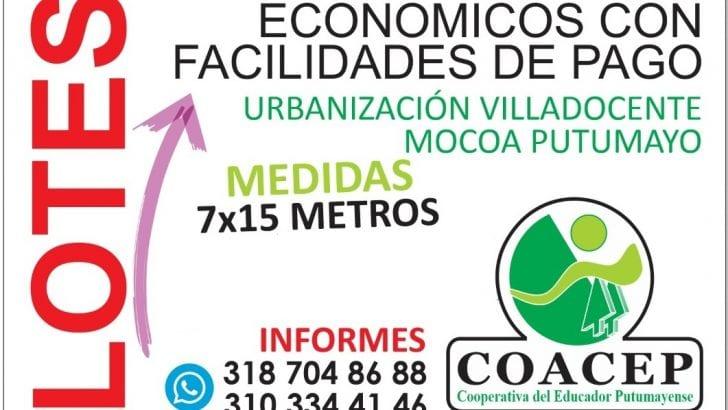 Clasificado – Venta de Lotes en Villa Docente, Mocoa