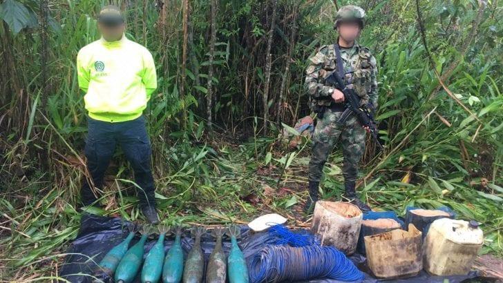 Acciones conjuntas permiten la incautación de abundante material explosivo en el Putumayo