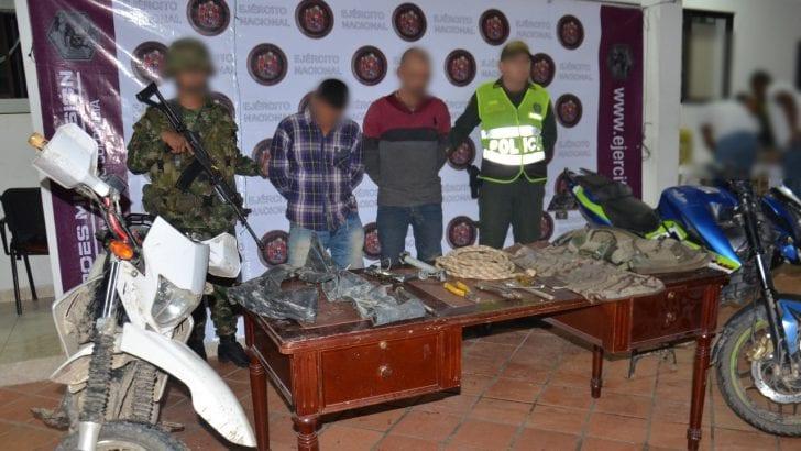 En rápida reacción, capturados presuntos haladores de motos en Villagarzón