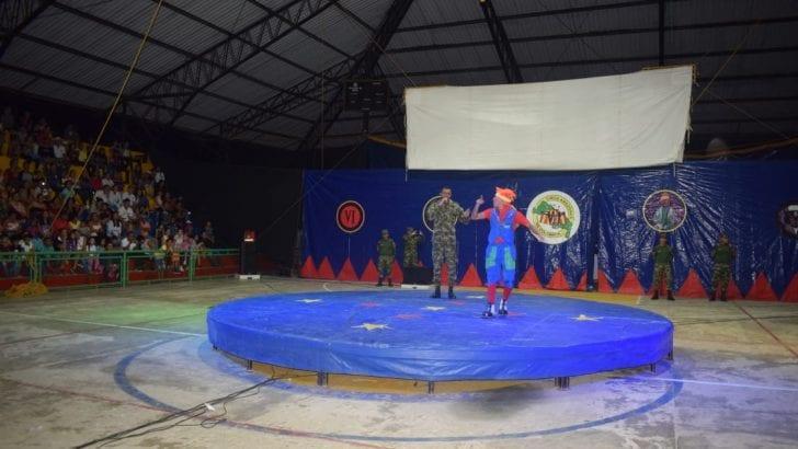 Como un éxito total se califica la llegada del circo Amazonas del Ejército a Orito – Putumayo