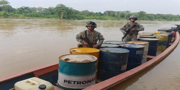Incautados mas de 1000 gl de combustible en el Putumayo
