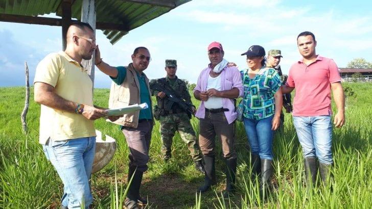 Familias desplazadas de Orito, Putumayo, recuperaron 150 hectáreas de tierra.